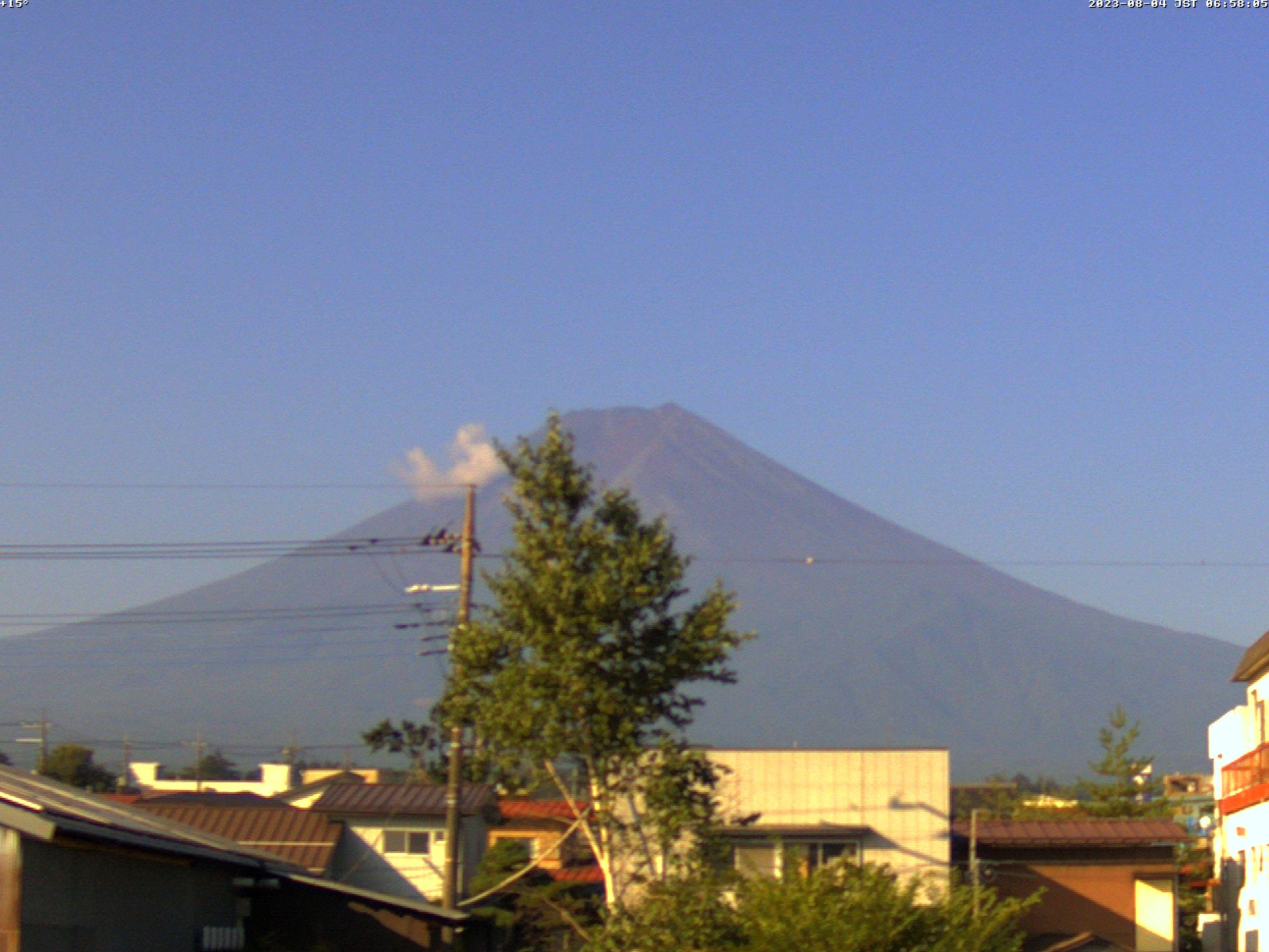 富士山ライブカメラ(富士吉田市中曽根望遠カメラ)
