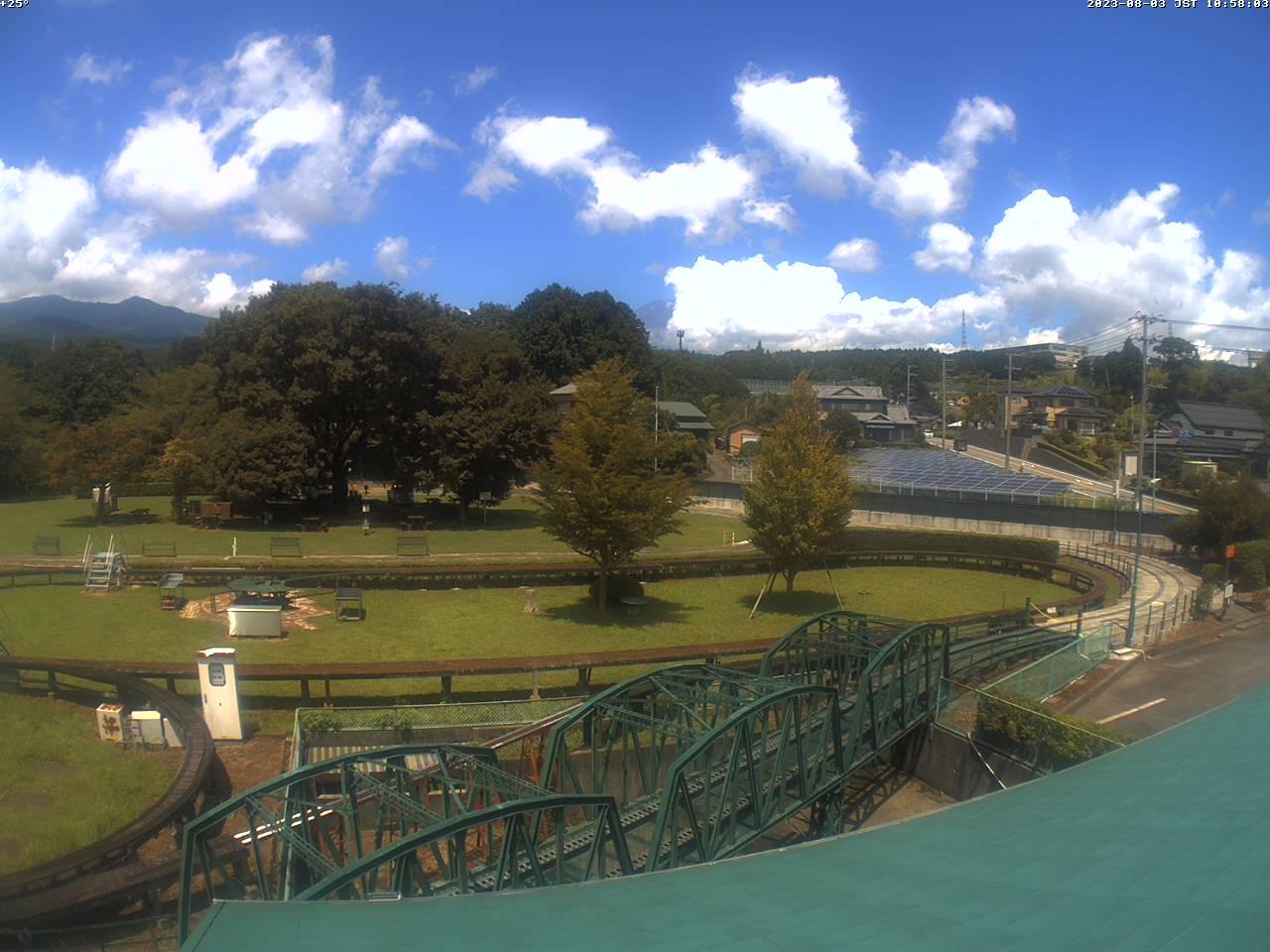 富士山ライブカメラ(裾野市日本庭園鉄道カメラ)