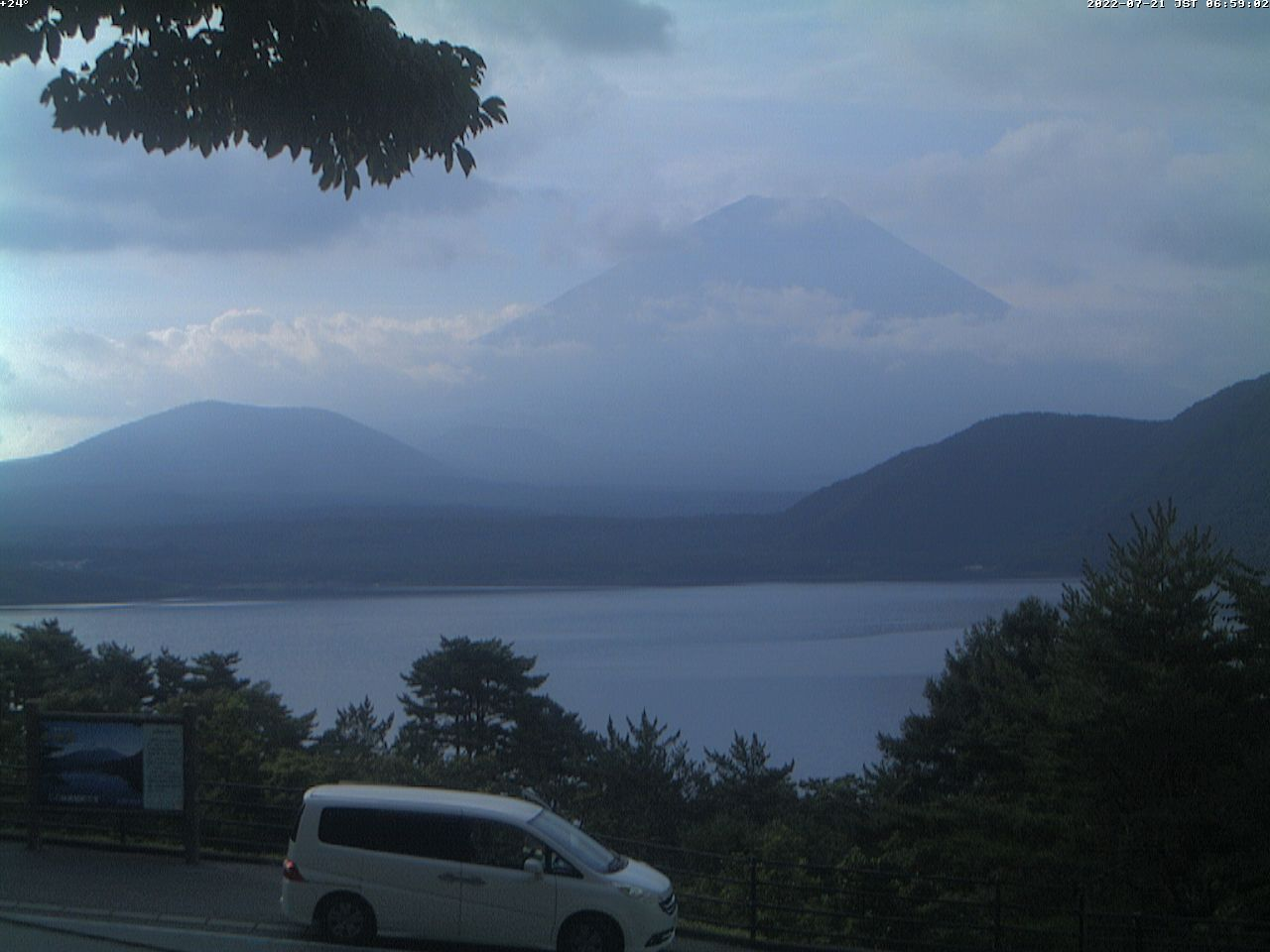 富士山ライブカメラ(本栖湖千円札カメラ)