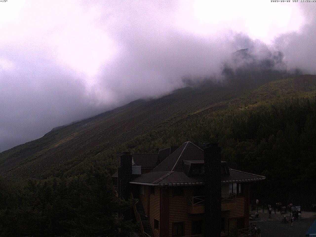 富士山ライブカメラ-富士市茶畑望遠