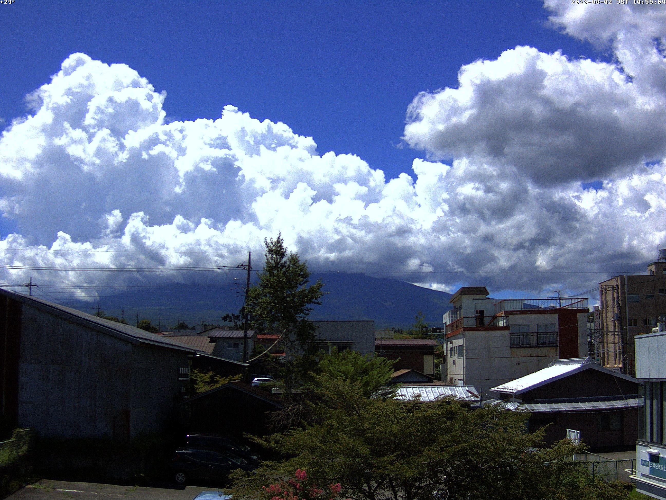 富士山ライブカメラ(富士吉田市中曽根)