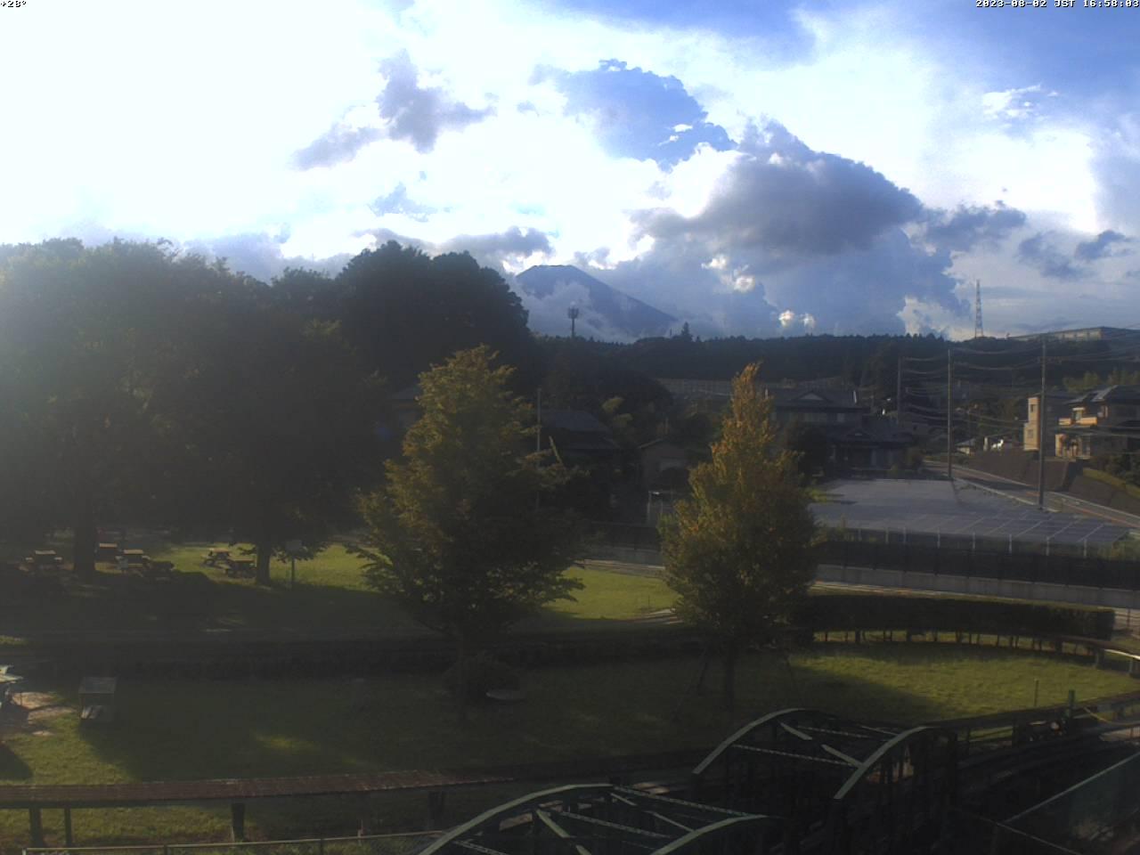 富士山ライブカメラ(裾野市日本庭園望遠カメラ)