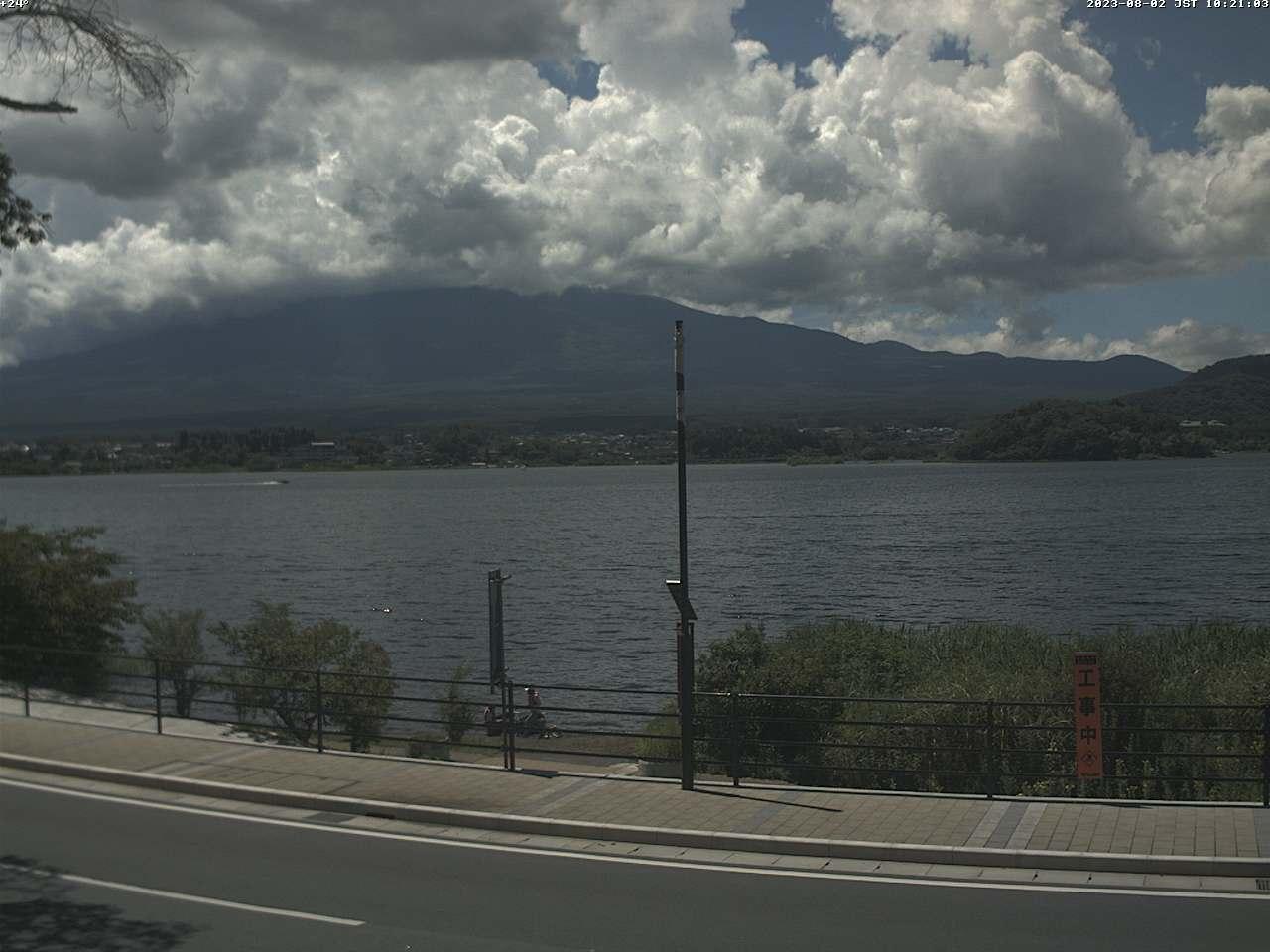 富士山ライブカメラ(河口湖大石湖畔)