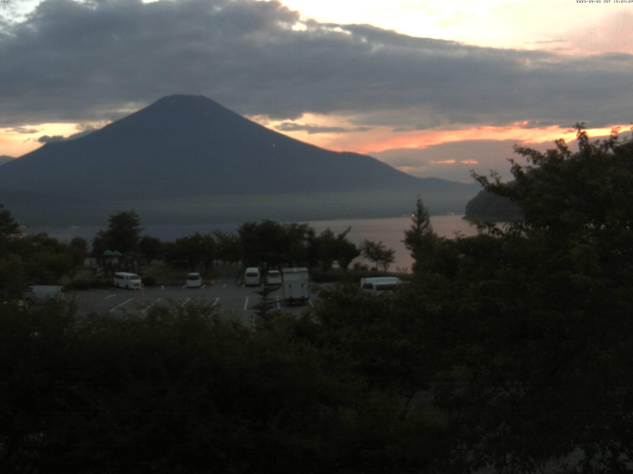 富士山ライブカメラ-山中湖駐車場