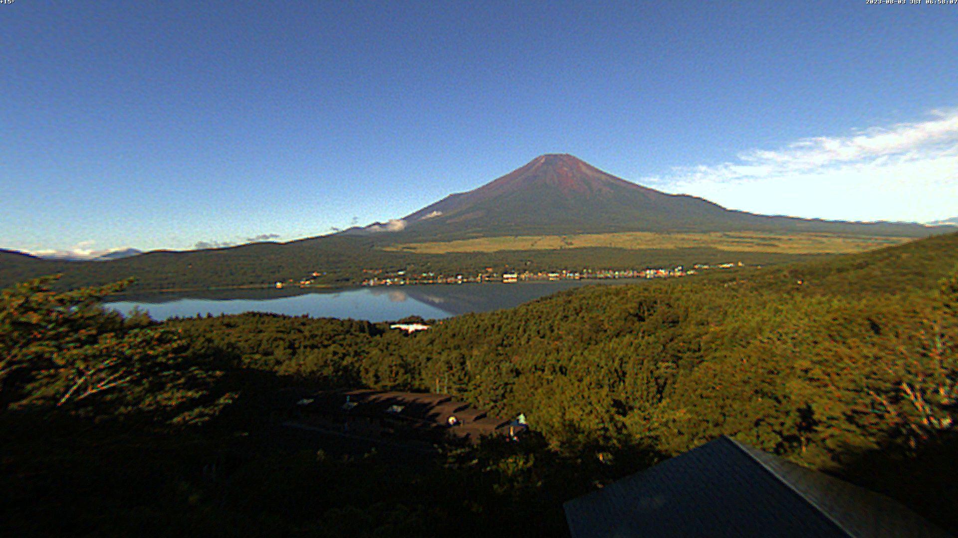 富士山ライブカメラ(山中湖高台パノラマ)