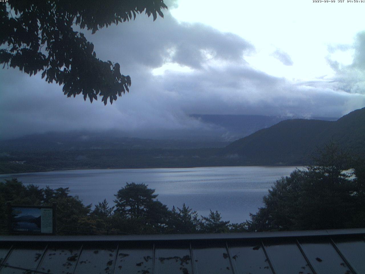富士山ライブカメラ-本栖湖千円札