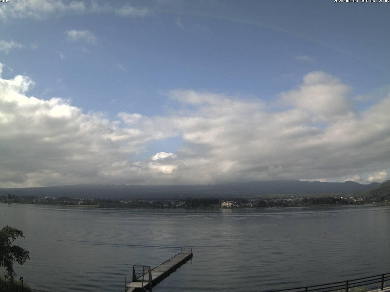 富士山ライブカメラ-河口湖北岸