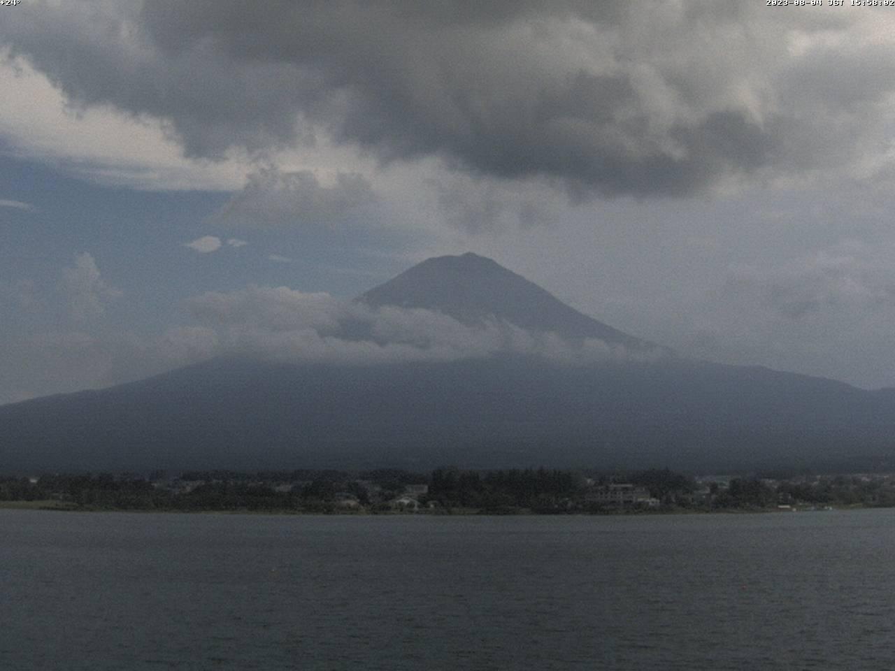 富士山ライブカメラ-河口湖北岸望遠